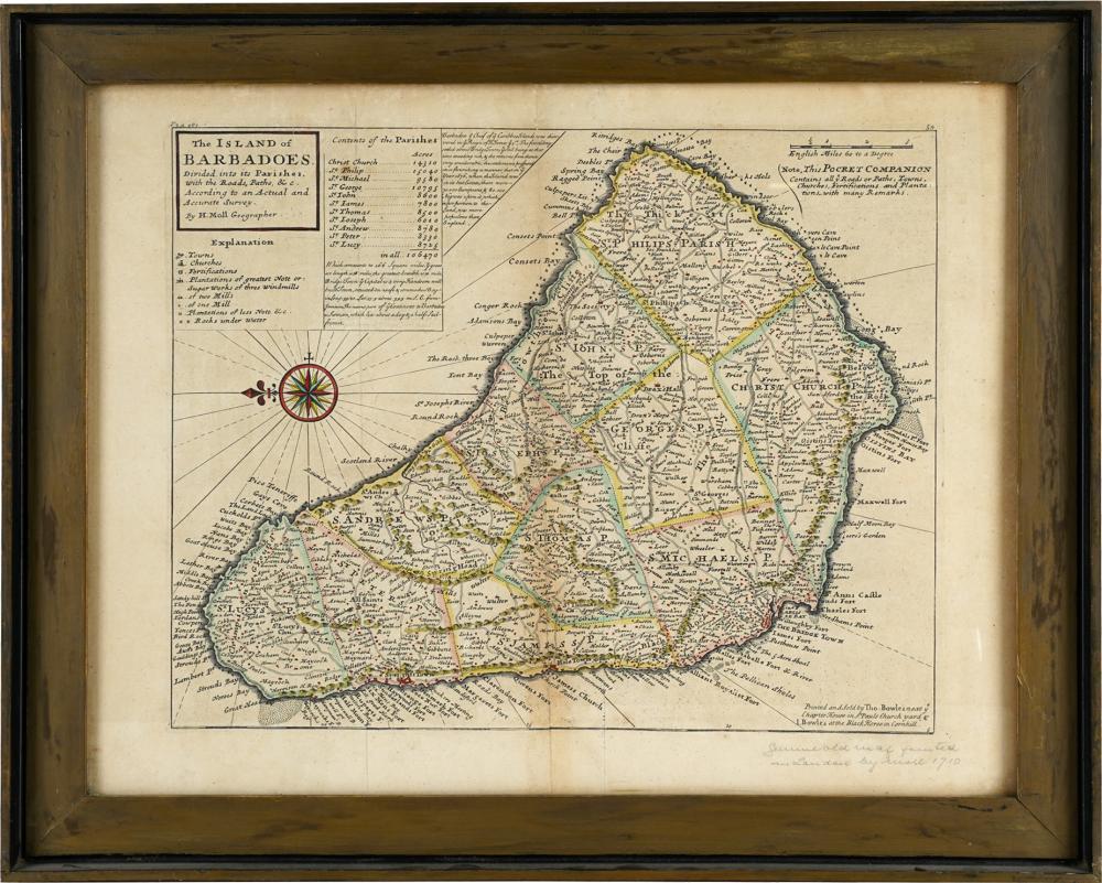 ENGLISH MAP OF THE ISLAND OF BARBADOS