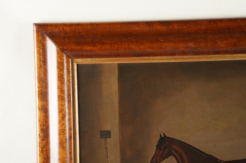 EDWIN LODER (1827 - 1885): HORSE & DOG