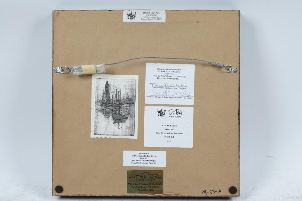 EDGAR PAYNE (1883 - 1947): TUNA YAELS & SARDINE BOATS