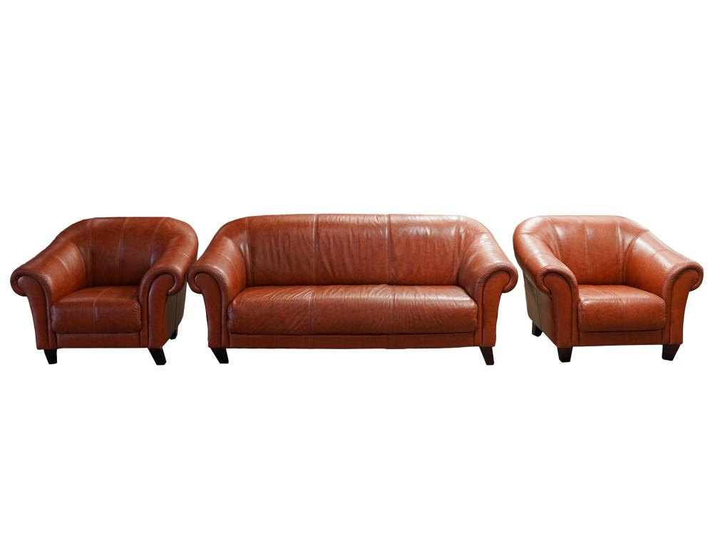 LEATHER LIVING ROOM SUITE