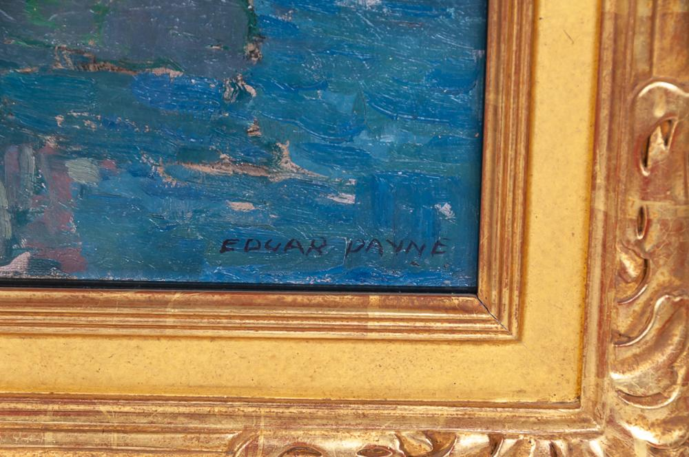 "EDGAR PAYNE: ""BRITTANY FISHING BOATS, FRANCE"""