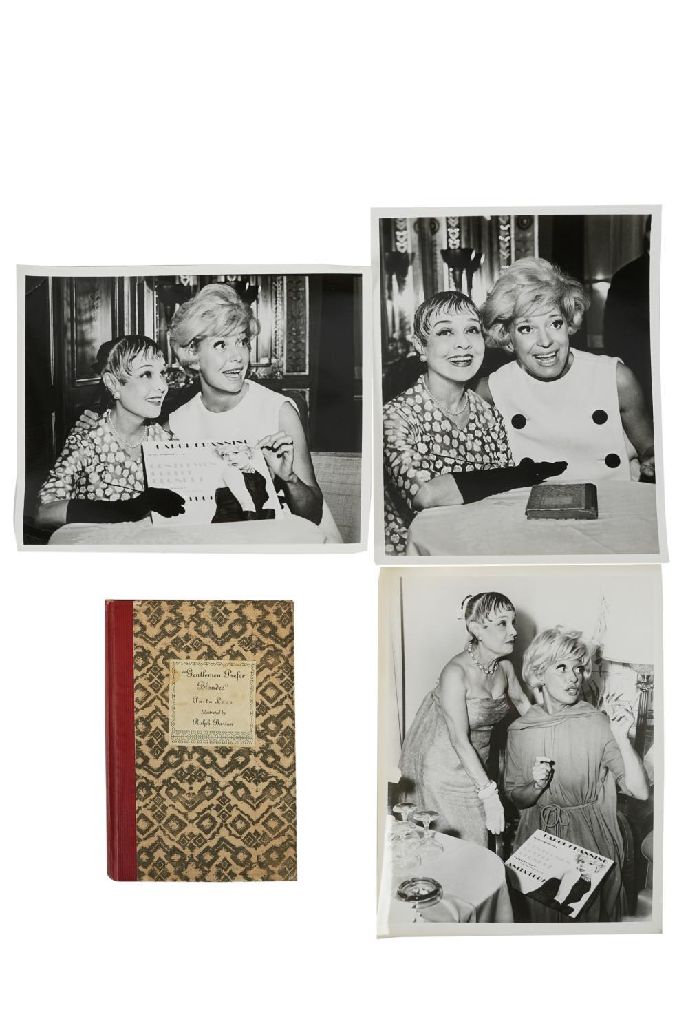 """CAROL CHANNING ANITA LOOS: """"GENTLEMEN..."""" BOOK & PHOTOS"""