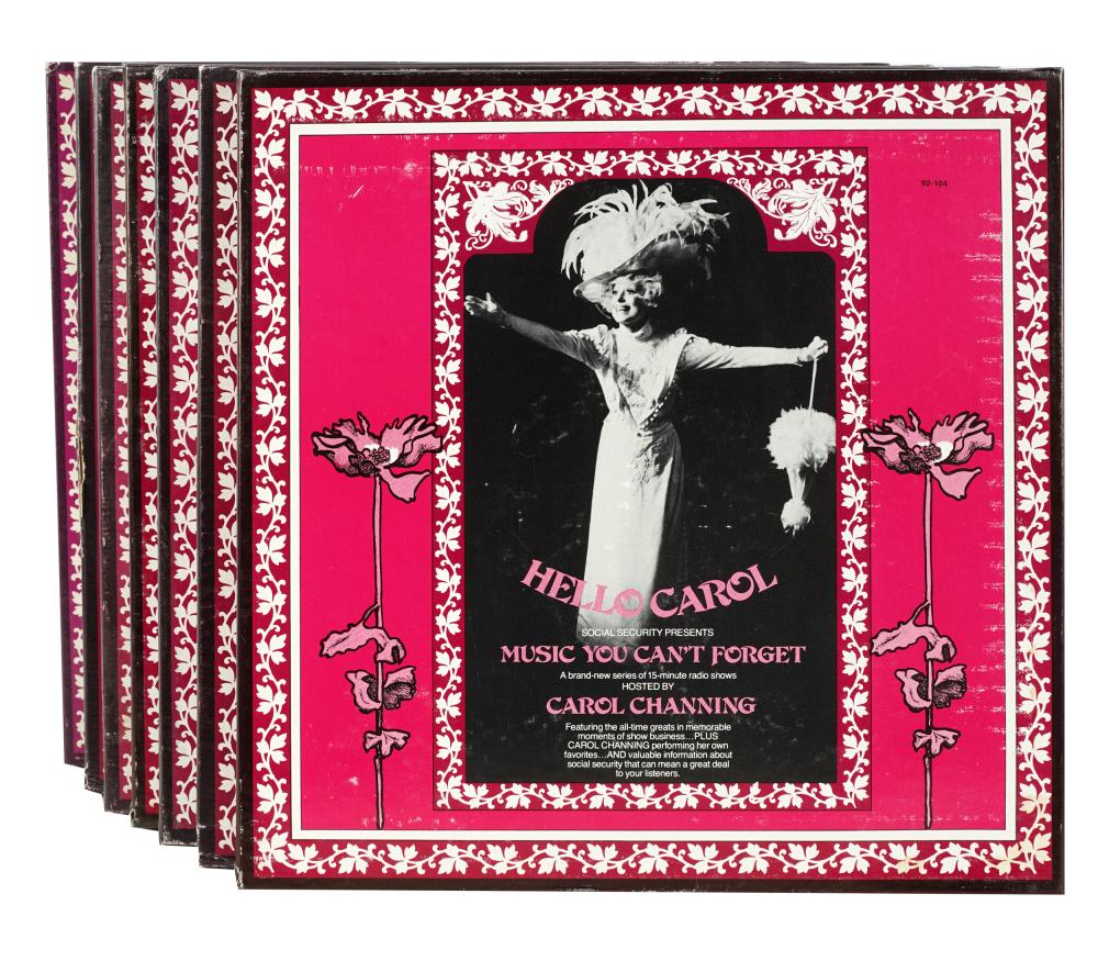 CAROL CHANNING GROUP OF SOCIAL SECURITY RECORD BOX SETS