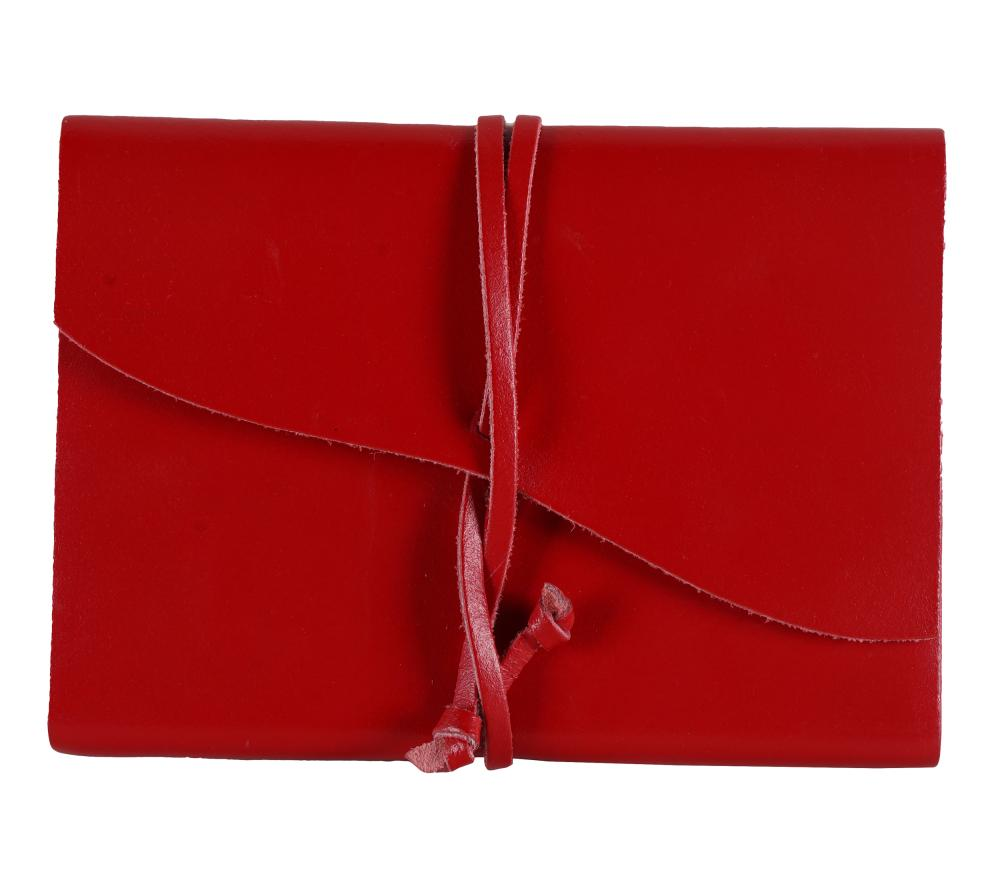 CAROL CHANNING RED LEATHER BOUND UNUSED DIARY