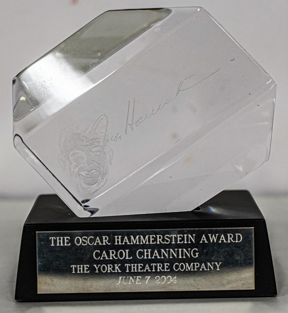 CAROL CHANNING 2004 OSCAR HAMMERSTEIN AWARD BY ORREFORS