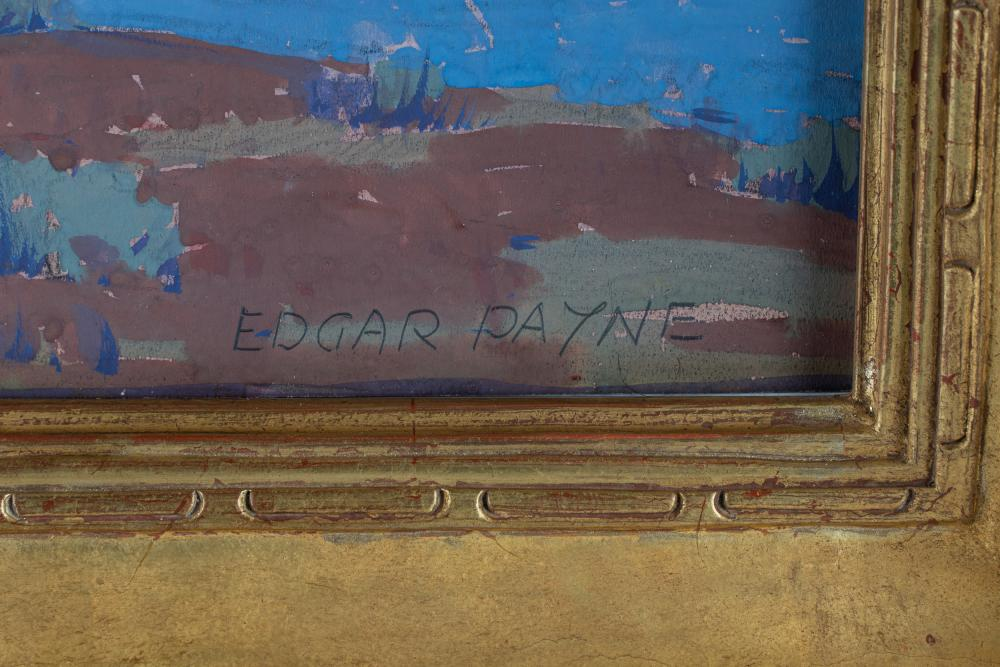 "EDGAR PAYNE (1883 - 1947): ""NAVAJO SCOUTS"""