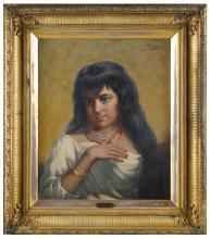 HUGH FORD CRIGHTON (1824 - 1886): ALGERIAN WOMAN