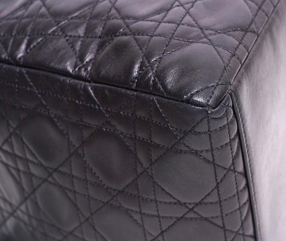 Christian Dior Lady Dior Black Cannage Bag Med