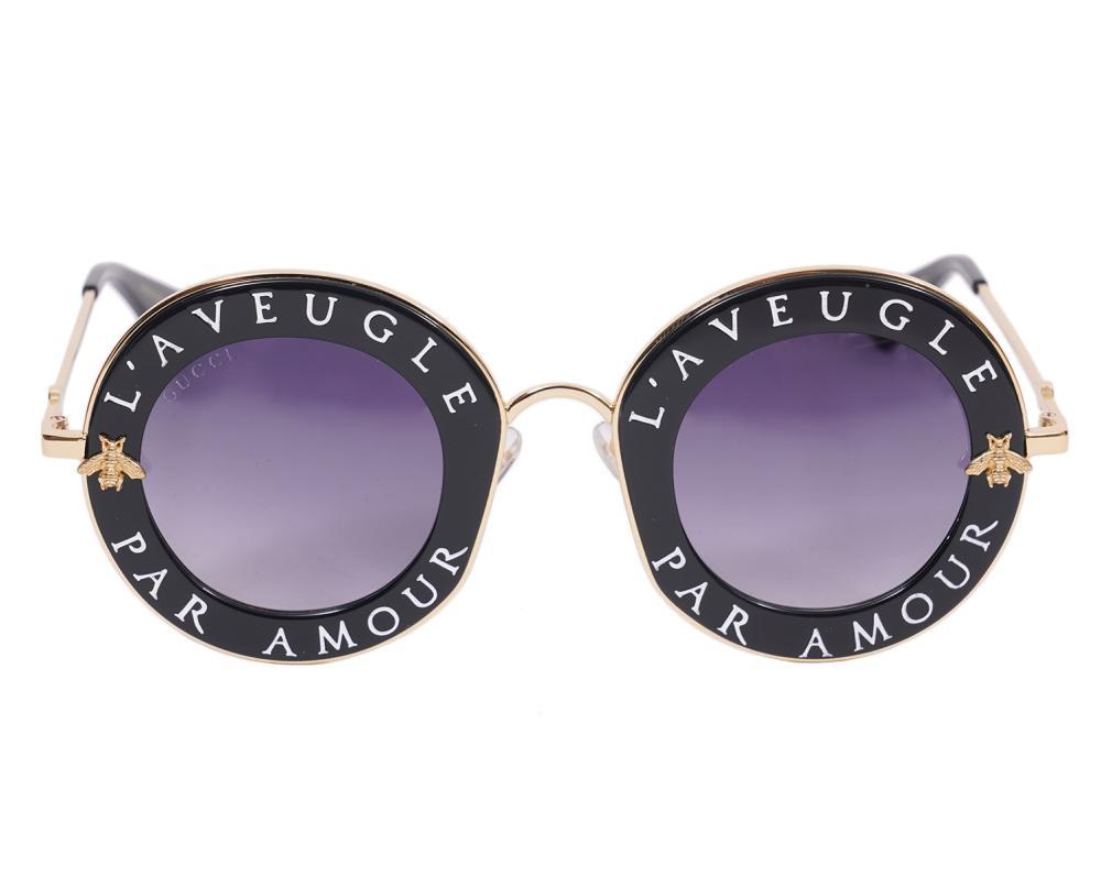 Gucci Round Sunglasses L'Aveugle Par Amour