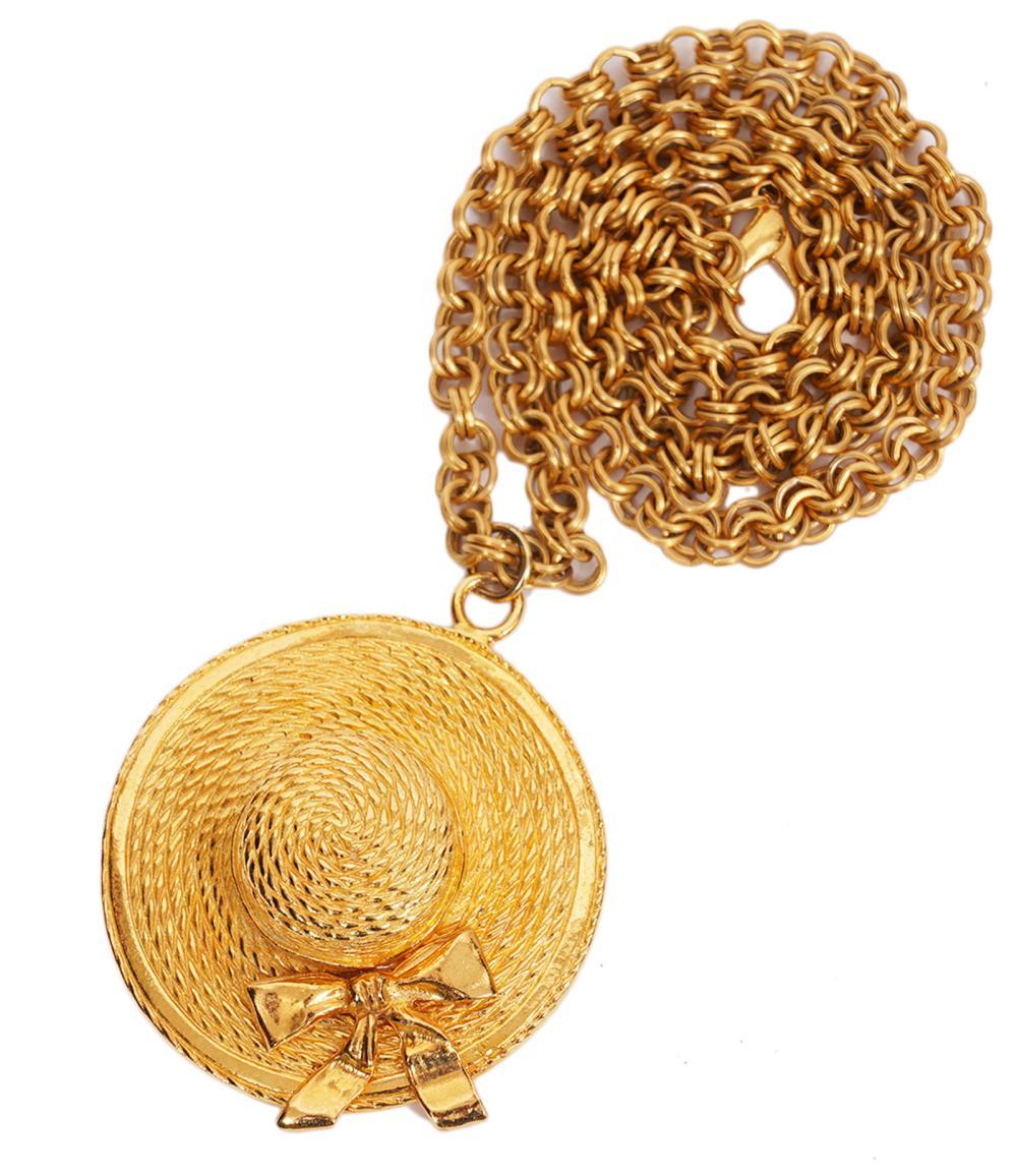Chanel Vintage Hat Necklace 1970's