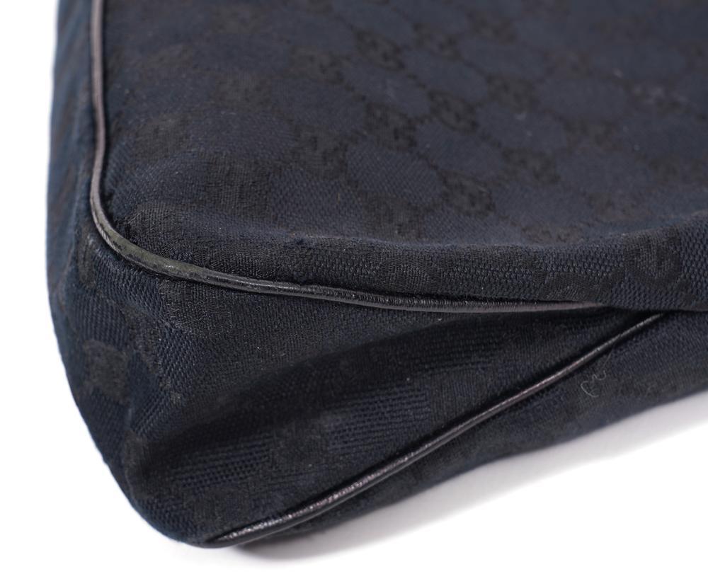 Gucci Black Monogram Shoulder Bag