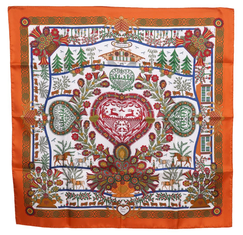 Hermes Silk Scarf Decoupages 90cm NEW in Box