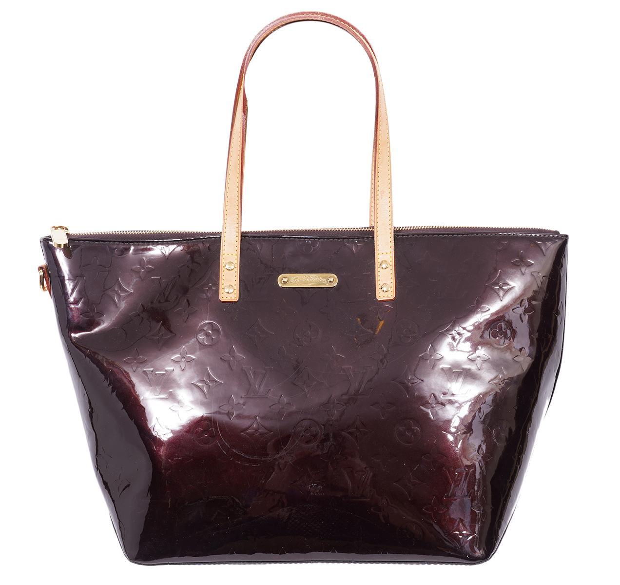 Louis Vuitton Amaranth Vernis Bellevue Tote