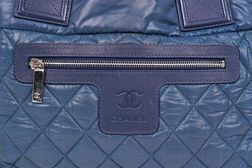 Chanel Cocoon Blue Quilted Pillow Bag 2009
