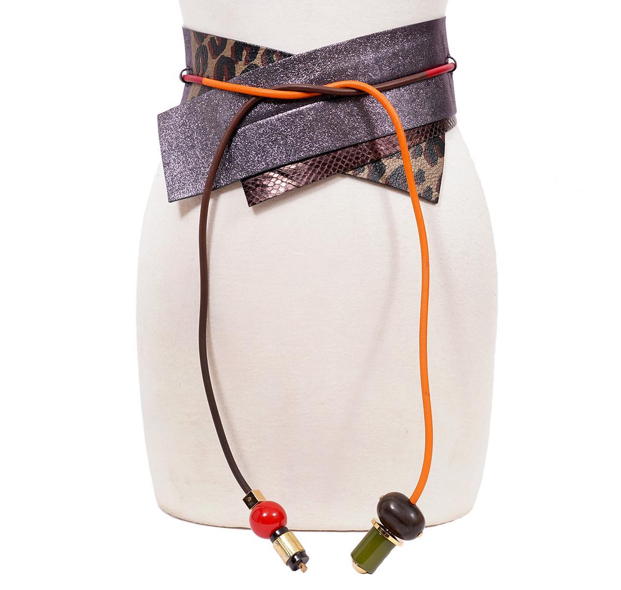 Louis Vuitton Vintage Metalic Tie Belt