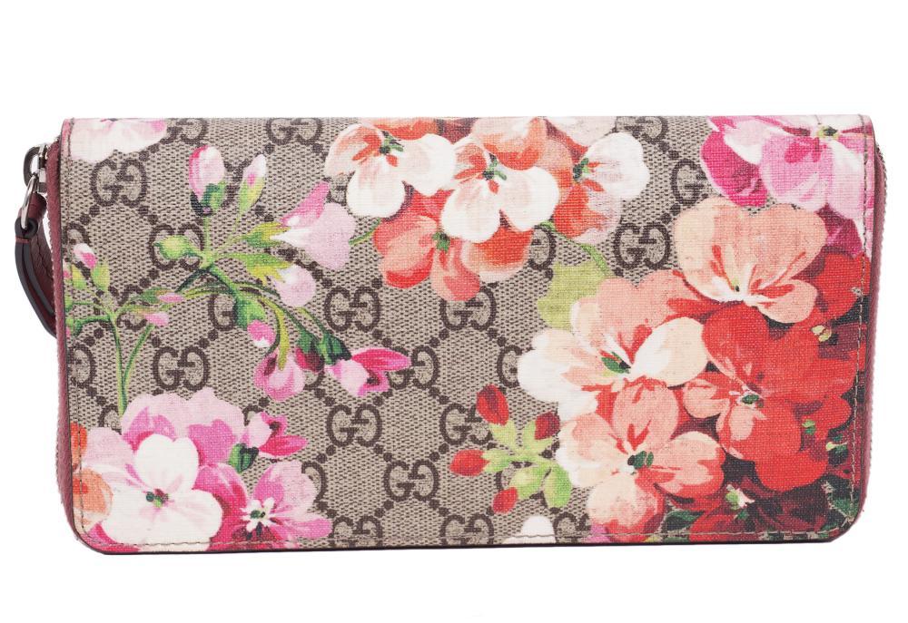 Gucci Blooms Zip Around Pink Wallet