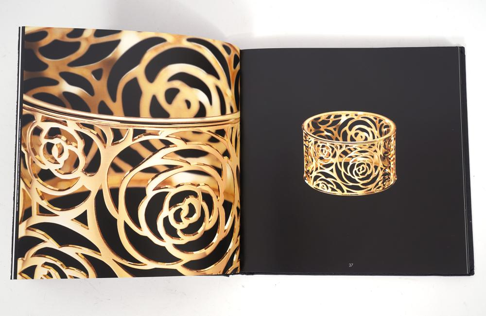 3 Coco Chanel Books and Pink Silk Chanel Scarf
