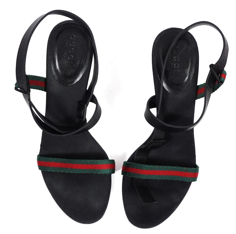 Gucci Classic Stripe Ankle Strap Heels Size 6B