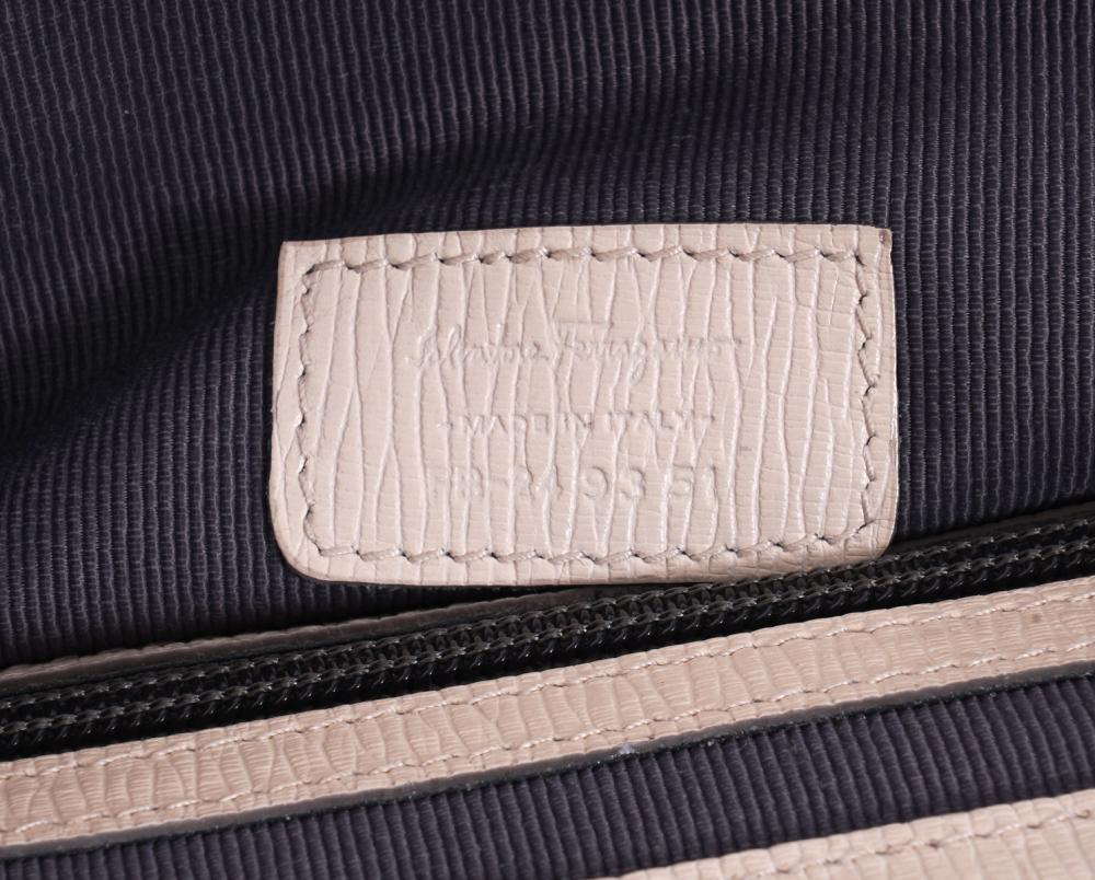Salvatore Ferragamo White Leather Briefcase