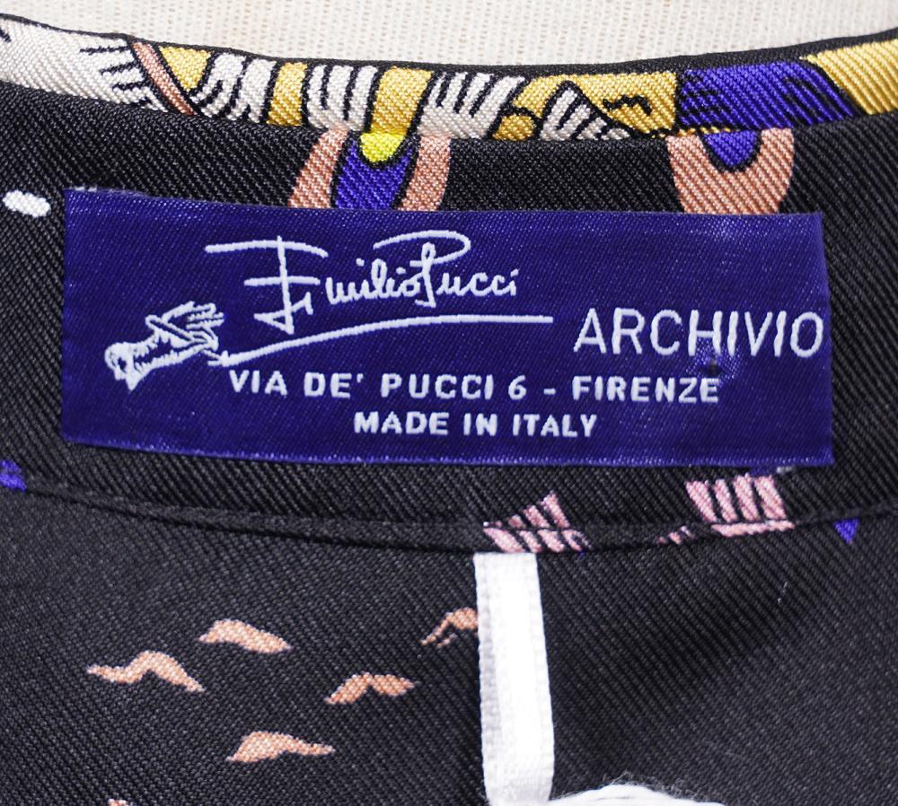 Emilio Pucci Archivio New Silk Blouse Size 6