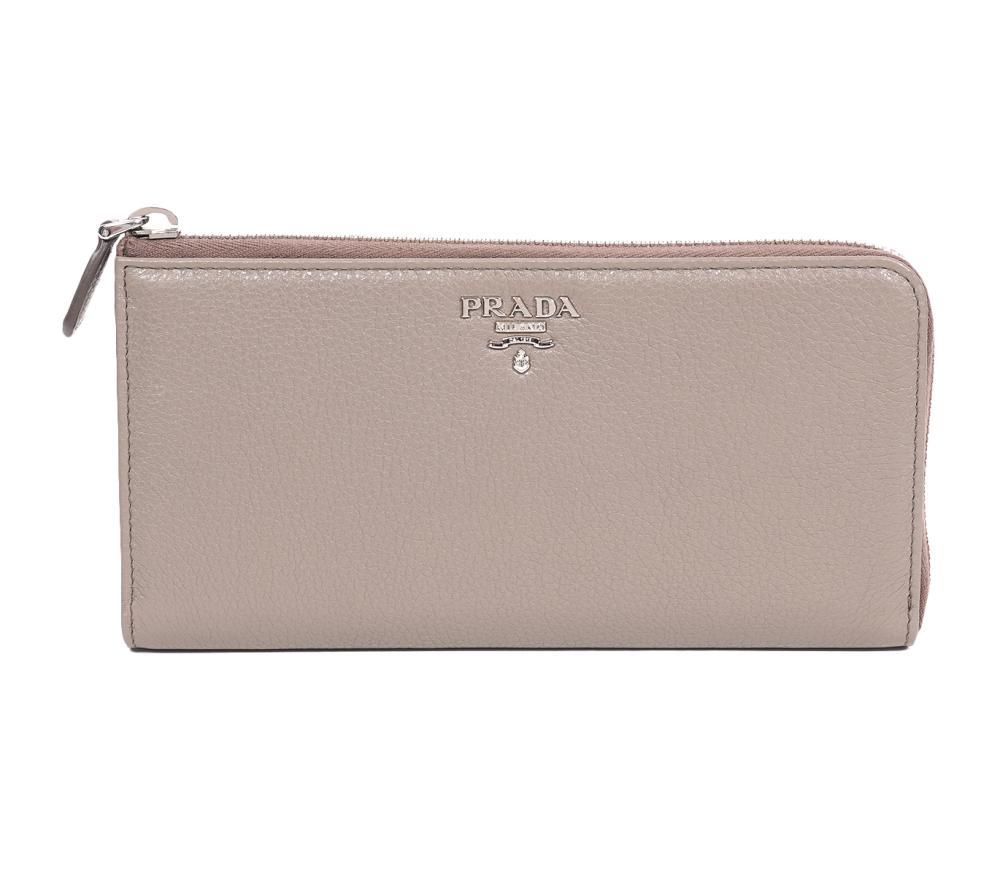 Prada New Wallet Taupe Tan Leather