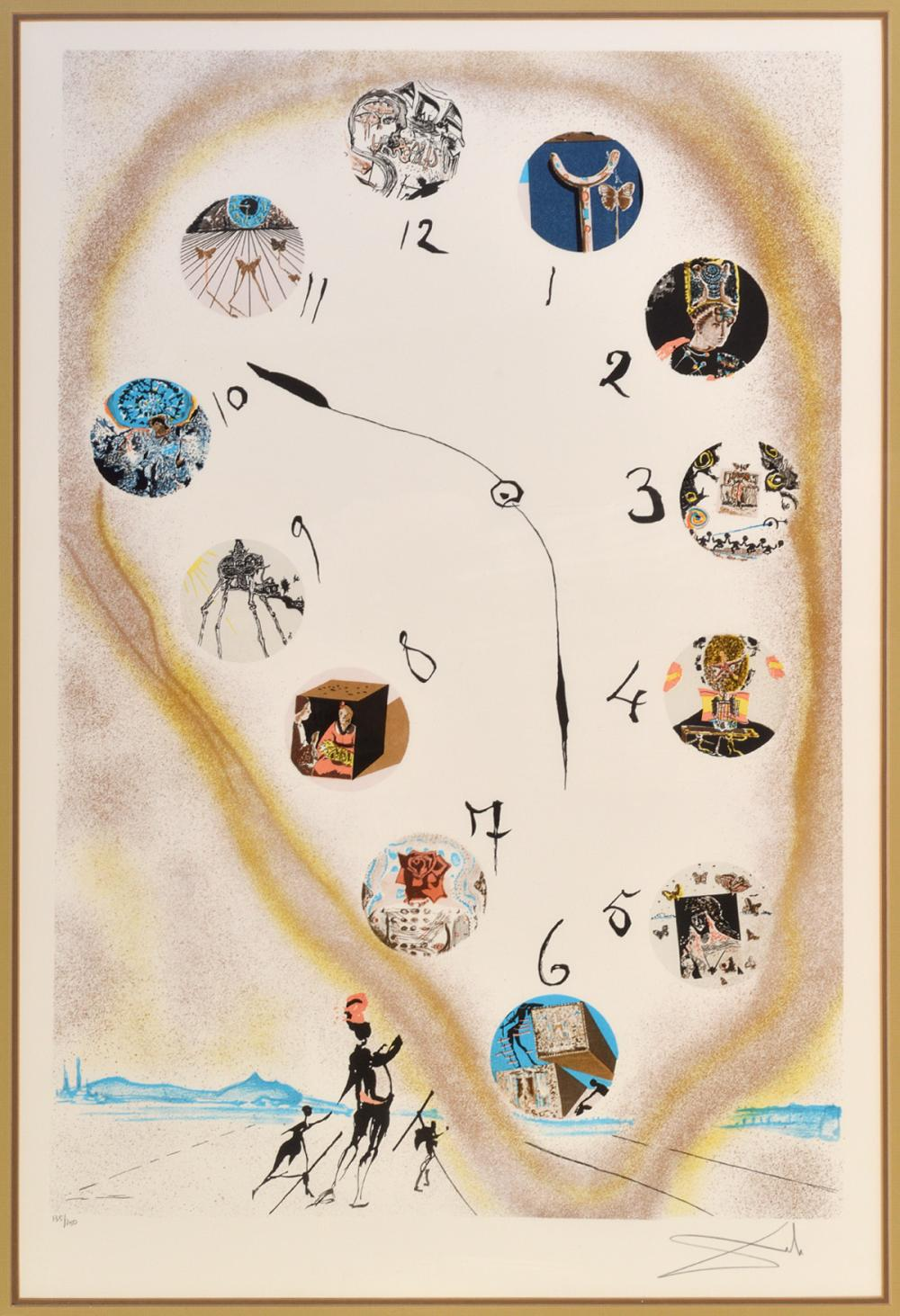Sold Price Salvador Dali Time In Space Lithograph October 4 0118 5 00 Pm Edt
