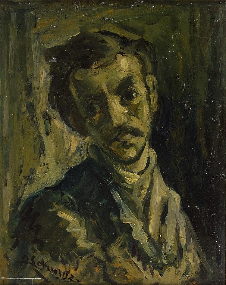 ACHILLE SDRUSCIA - Man with mustache, 40's