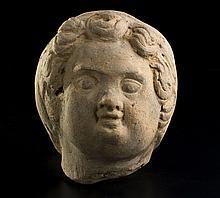 Testa votiva Italia centrale, III secolo a.C.