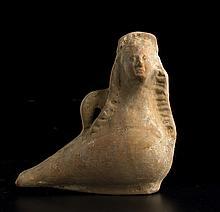 Unguentario plastico in forma di sirenaItalia meridionale, VI secolo a.C.