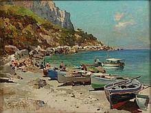 Felice Giordano Napoli 1880 - Capri 1964 Spiaggia
