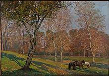 Raniero Aureli Roma 1885 - 1975 Villa Umberto olio