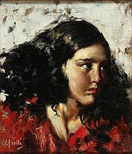 Vincenzo Irolli Napoli 1860 - 1949 Giovane donna