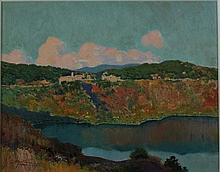 Carlo Montani Saluzzo 1868 - Roma 1936 Lago di