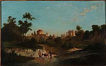 Franz Kargl 1834 - 1890 circa Paesaggio laziale