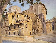 ANGELO ROSSI - Lungotevere at Tor di Nona, 1935