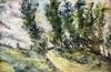 LEONARDO BISTOLFI - Path in the countryside, Leonardo Bistolfi, €500