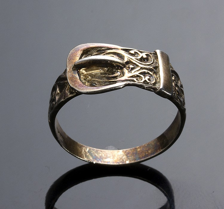 VINTAGE STERLING SILVER RING - ENGLAND, EARLY 20TH CENTURY