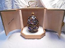 Faberge St. Petersburg Collection Winter Egg  w/original box