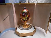 Faberge St. Petersburg Collection Tropical Egg w/original box
