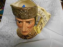 Royal Doulton Toby Mug Davy Crockett- Santa Ann