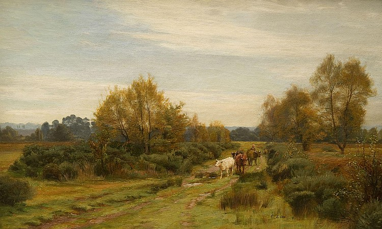 CHARLES LOW (Exh. 1881-1905), THE CATTLE DROVER,