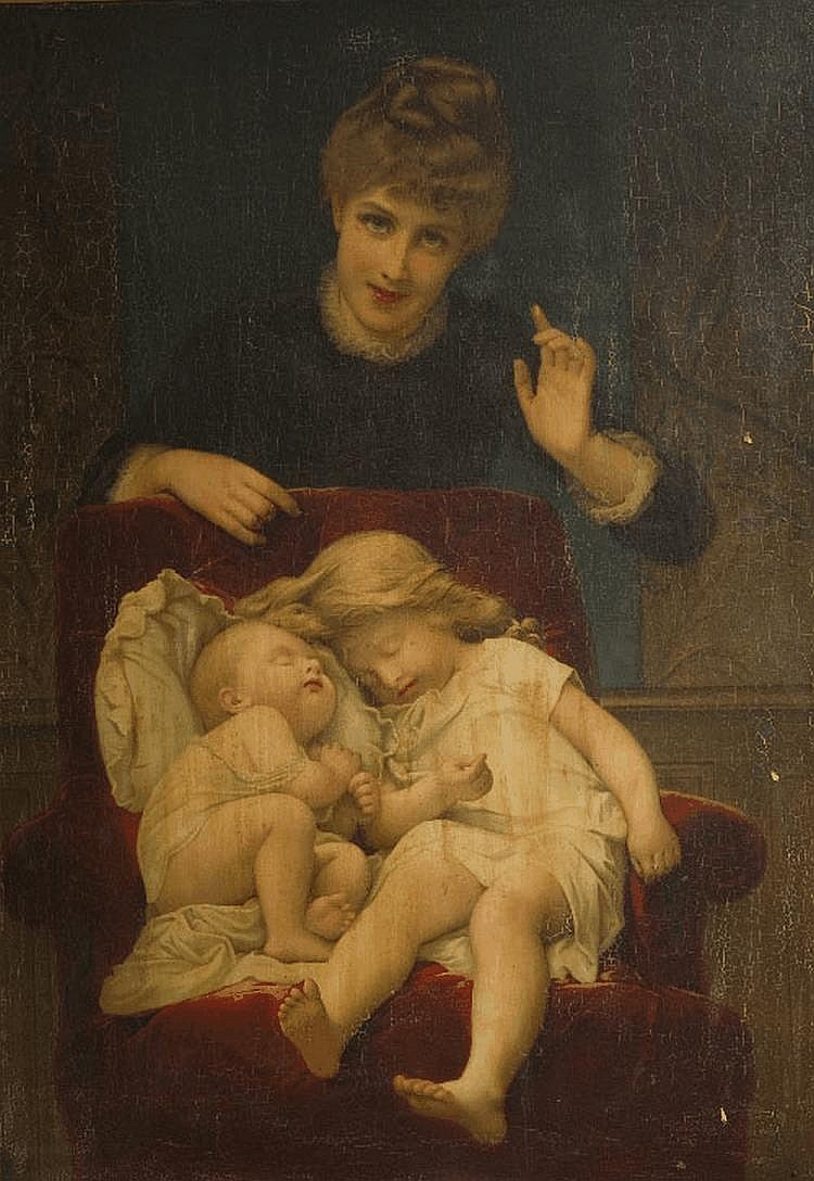 CIRCLE OF KATE PERUGINI (1839-1929), A MOTHER AND