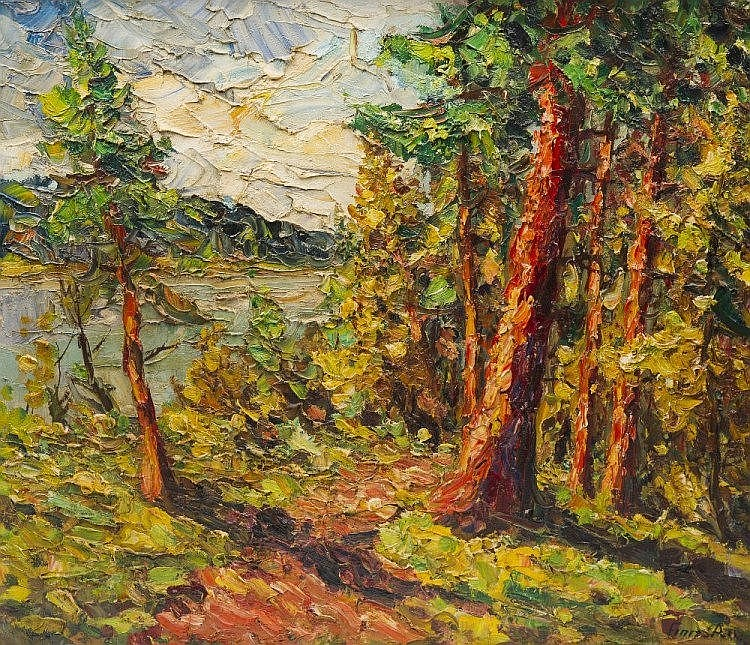 FINN ANDERSEN (DANISH 1909 - 1987), WOODLAND
