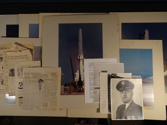 Large Cold War Atlas, Thor, & Agena ICBM missile program official USAF real photos dated 1958-1960 and newspapers, Vandenberg Air Force Base, and Colonel items.