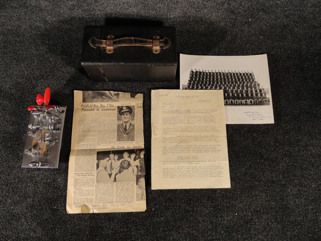 Army Signal Corps Vibroplex Original Deluxe #158282 speed telegraph morse key used at Pearl Harbor for Gen. Macarthur w/ case, photos, newspaper, and Officer's orders letter. WWII era