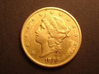 1896 S Gold Double Eagle Genuine 20 dollar excellent condition US Coin