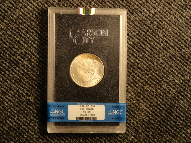 1880 CC Carson MS65 NGC Certified Morgan Silver Dollar GSA Hoard Graded US Coin