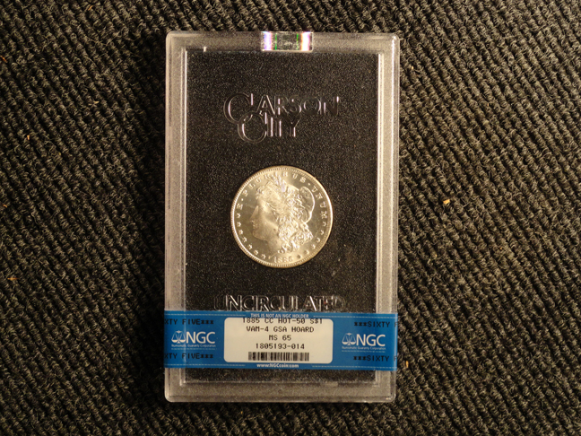 1885 CC Carson MS65 Vam-4 Variety NGC Certified Hot 50 Morgan Silver Dollar GSA Hoard Graded US Coin!