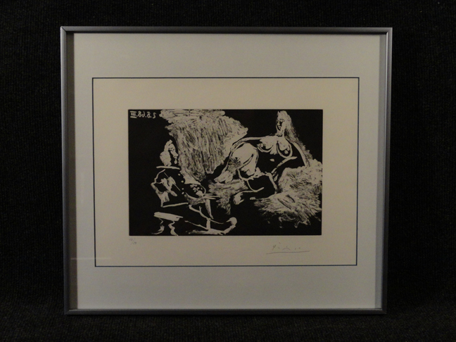 Pablo Picasso Hand Signed & Numbered Aquatint 347 Suite 5.8.68 III August 5th, 1968 expertly framed