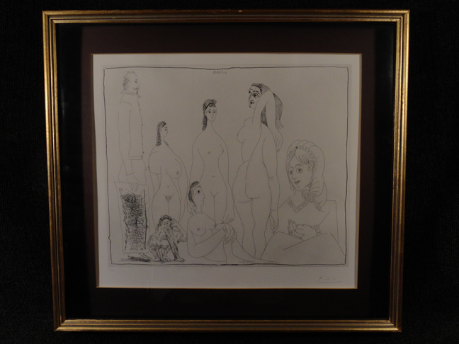 Pablo Picasso Hand Signed & Numbered etching 347 Suite 11.5.68 III May 11th, 1968 expertly framed